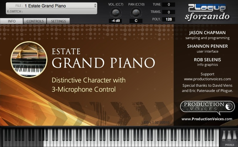 Estate Grand Piano Info Page